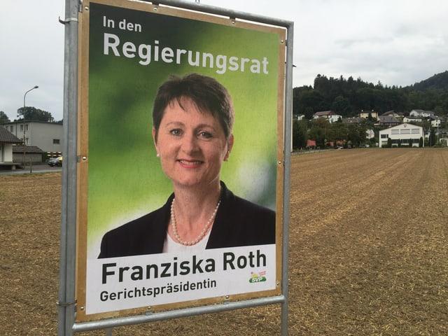 Wahlplakat von Franziska Roth