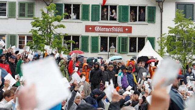 Das kleine Wirtshaus am Zaunplatz ist am Landsgemeinde-Sonntag bis auf den letzten Platz besetzt.