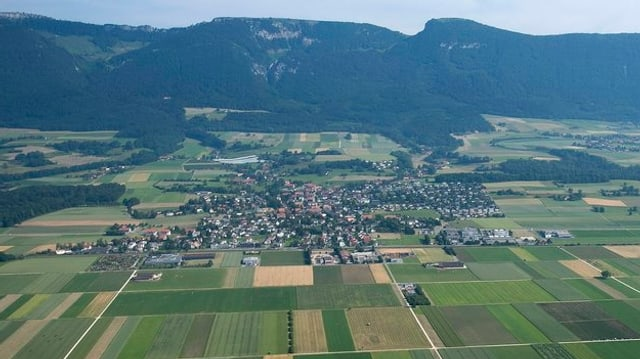 Luftaufnahme von Bellach