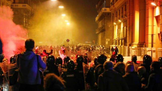 Proteste in Neapel.