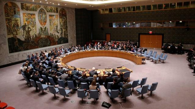 sala da seduta, la radunanza dal cussegl da segirtad da l'ONU