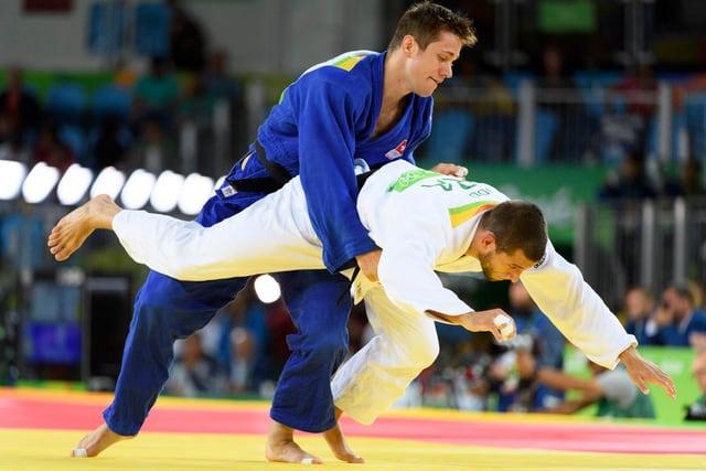 Judokämpfer in Aktion.