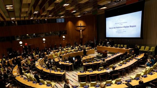 Die Delegierten im Saal der UNO-Vollversammlung.
