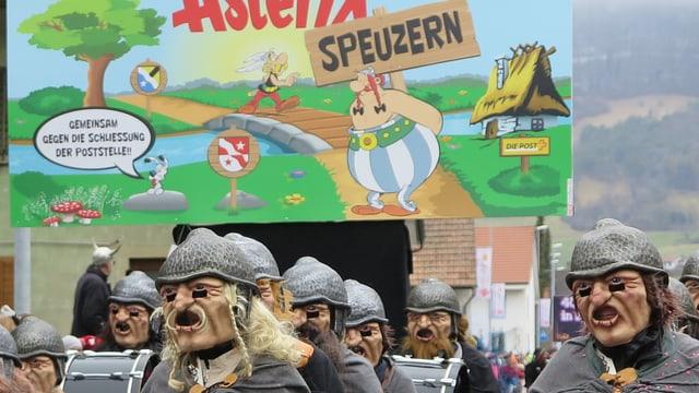 Plakat Asterix gegen Postschliessung