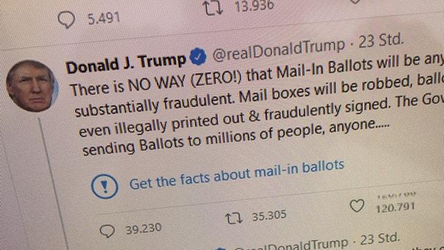 Twitter labelt Präsident Trump