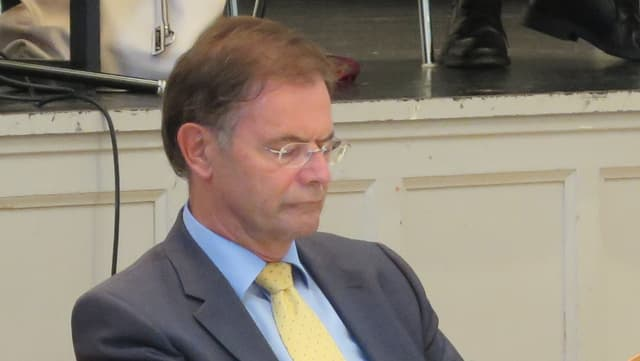 Walter Dubler an einer Einwohnerratssitzung