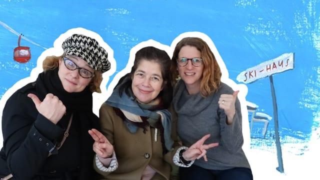 Fabienne (Schauspielerin), Katja und Elena (Autorinnen)
