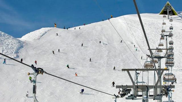 Sesselbahn im Skigebiet Arosa.
