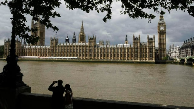 Parlamentsgebäude in London.