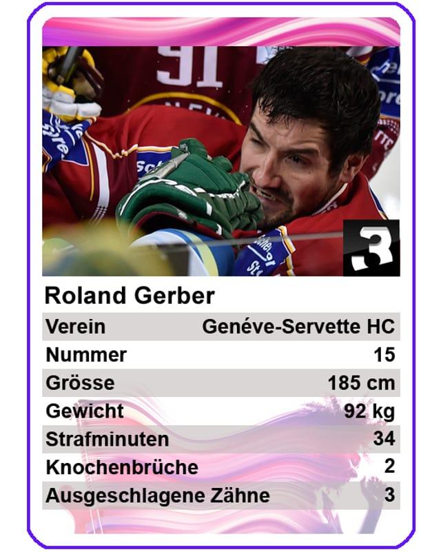 Roland Gerber (Genéve-Servette HC): «Ich war bereits bei den Junioren der Checker. Daran hat sich bis heute nichts geändert. Drum teile ich auch heute noch gerne aus und mache das gegnerische Spiel kaputt.»