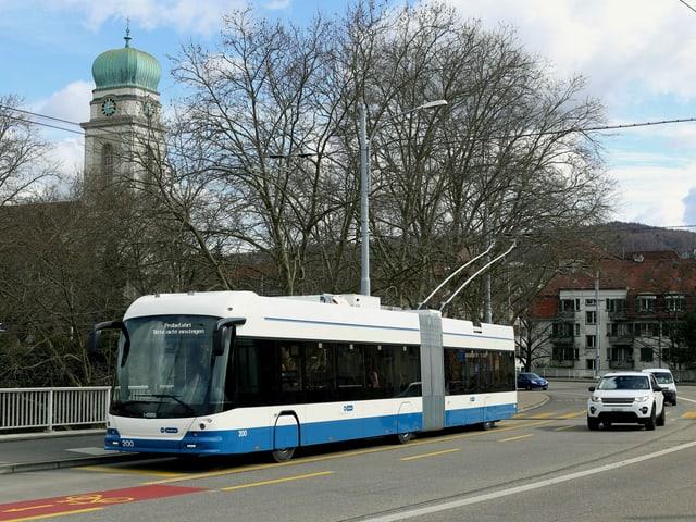 Der neuste Batterie-Trolleybus der Stadt Zürich.