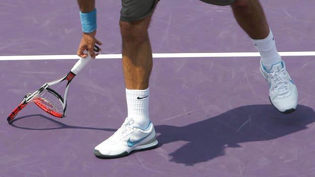 Federer im Miami-Halbfinal 2009.