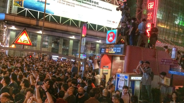 Menschenmasse an Demonstration in Hongkong