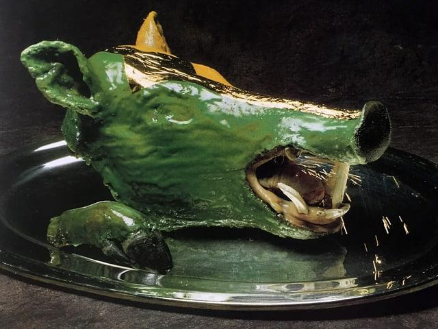 Grüner Schweinekopf