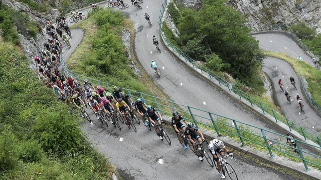 Die Rampen zum Col du Chaussy.