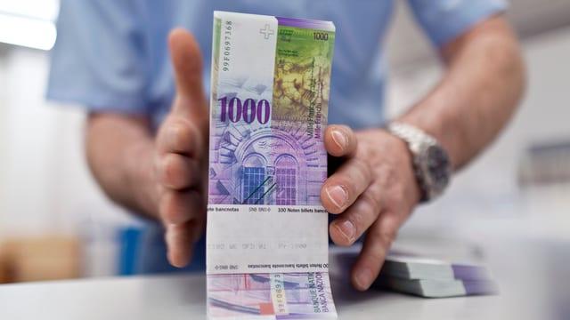 bancnotas da 1000 francs