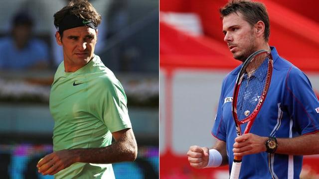 Roger Federer und Stanislas Wawrinka wollen hoch hinaus.