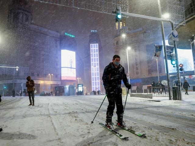 Skifahrer in madrid