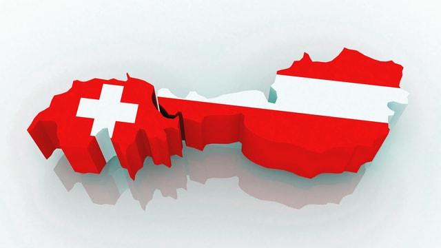 Grafische Darstellung der Schweiz und Österreichs