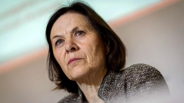 Esther Waeber-Kalbermatten schaut streng.