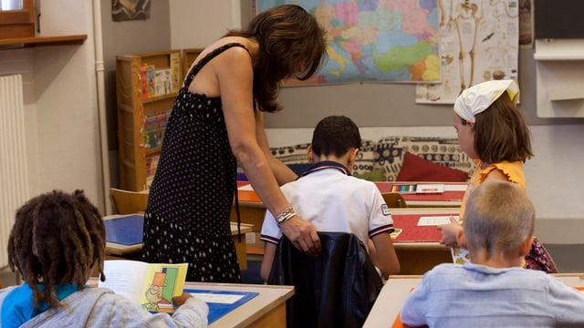 Schüler in einer Schulklasse.