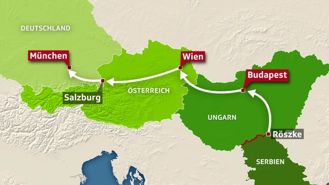 Die Balkanroute.