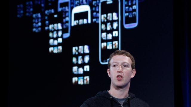 Facebook-Gründer Mark Zuckerberg bei der Präsentation von Facebook Home