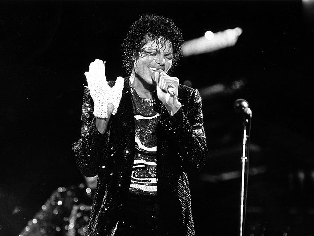 Michael Jackson durant in concert 1984