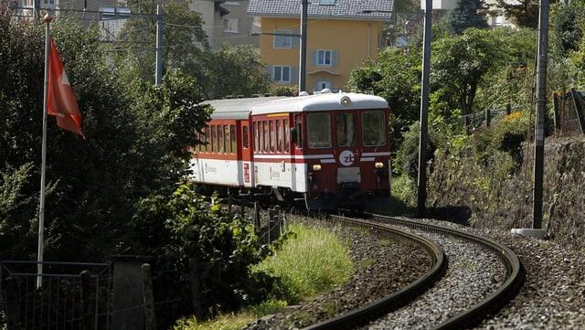 Zentralbahn-Zug in Nidwalden.