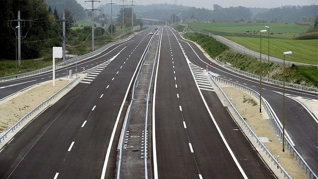 Blick auf die neue Autobahn