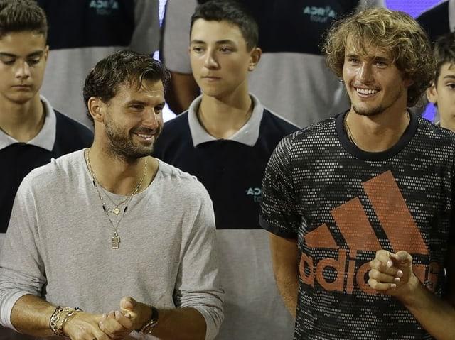 Grigor Dimitrov (links), hier mit Alexander Zverev an der Adria Tour.
