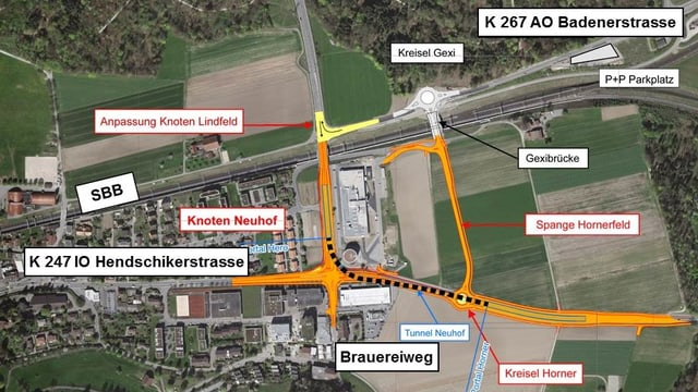 Karte des Knotens Neuhof.