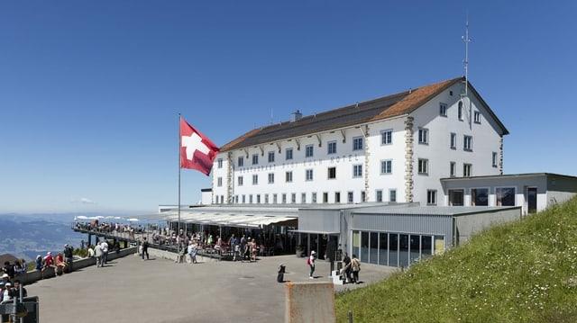 Zu sehen ein Schweizer Hotel.