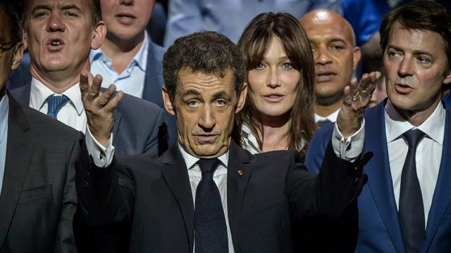 Sarkozy ed entourage.