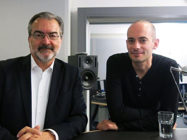 Alexander Gonzalez, der Präsident des Wirtschaftsverbands der Stadt Luzern (links) und SP-Politiker Nico van der Heiden.