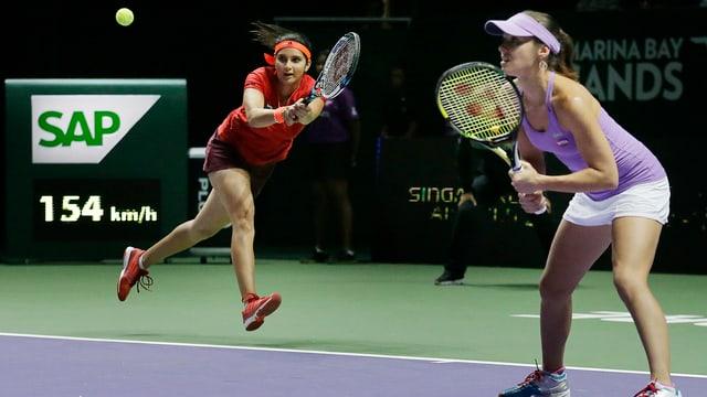 Martina Hingis und Sania Mirza in Singapur.