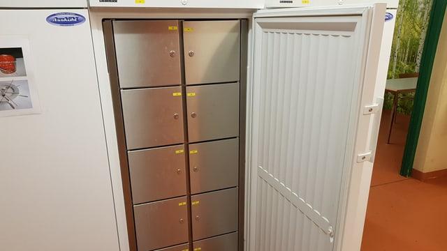 Kühlschrank mit Schliessfächern