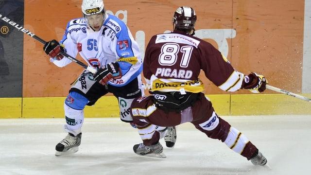 Fribourgs Romain Loeffel und der Genfer Alexandre Picard kämpfen um die Leaderposition in der NLA.