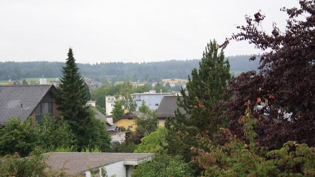 Einheitsgrau über den Dächern von Winterthur.