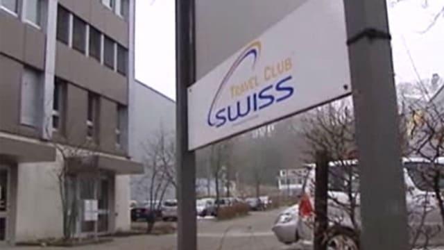 Eingang der Firma Travel Club Swiss.
