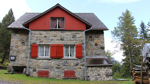 Das Berghaus Bonern in der Nähe der Fräkmüntegg am Pilatus.