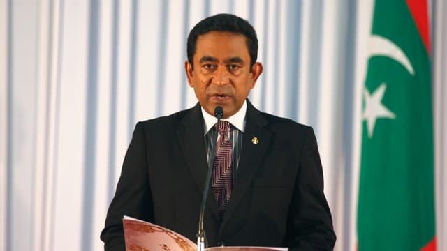 Bild des Präsidenten der Malediven, Abdullah Yameen.