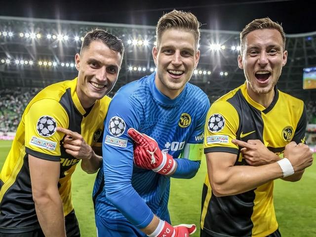 Vincent Sierro, David von Ballmoos und Nicolas Bürgy.