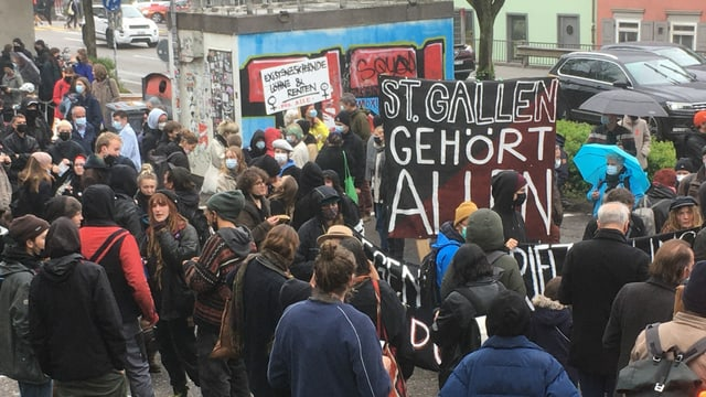 1. Mai-Demonstrationen in St. Gallen.
