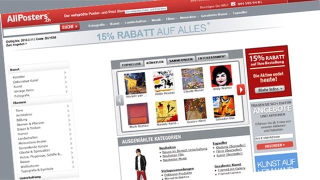 Internetseite allposters.ch