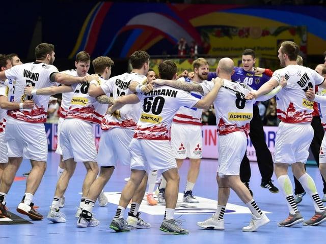 Die österreichischen Handballer.