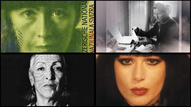 Haben die Kunst des 20. Jahrhunderts mit geprägt: Sophie Taeuber Arp, S. Corinna Bille, Meret Oppenheim und Manon.