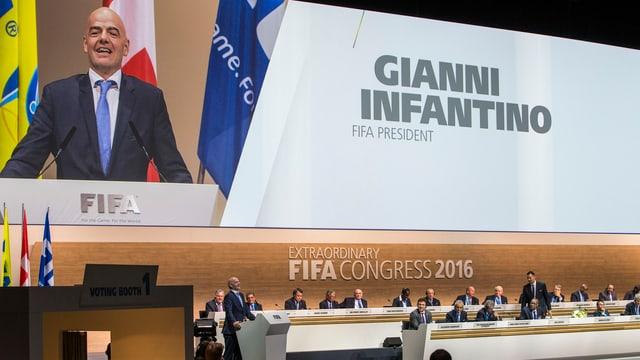 Fifa-Kongress in Zürich mit Gianni Infantino am Rednerpult