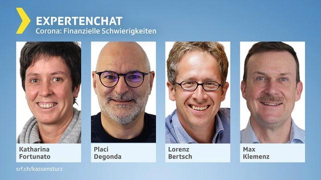 Porträts der vier Chatexperten