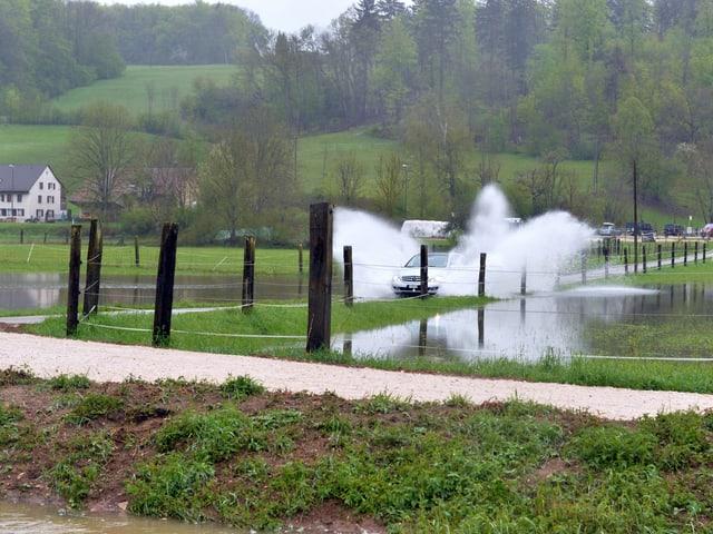 Am 1. Mai gab es nach intensivem Regen in weiten Teilen der Schweiz Überschwemmungen.